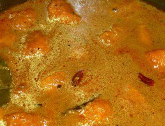 Kaddu Aambal [Pumpkin Tangy Curry]