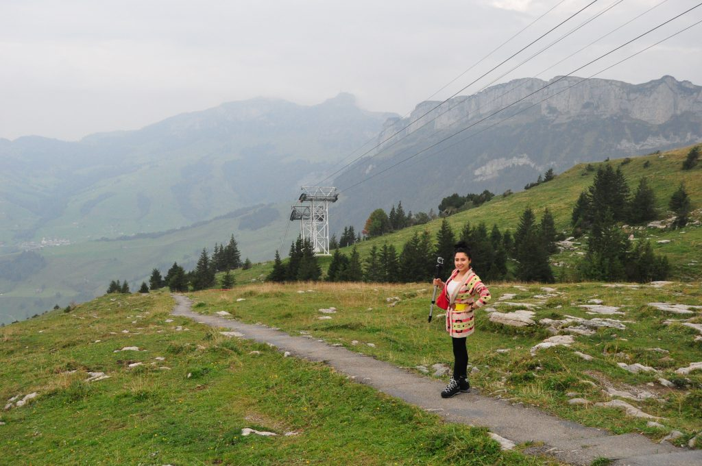 Got Down From Cable Car & Walking Towards Wildkirchli