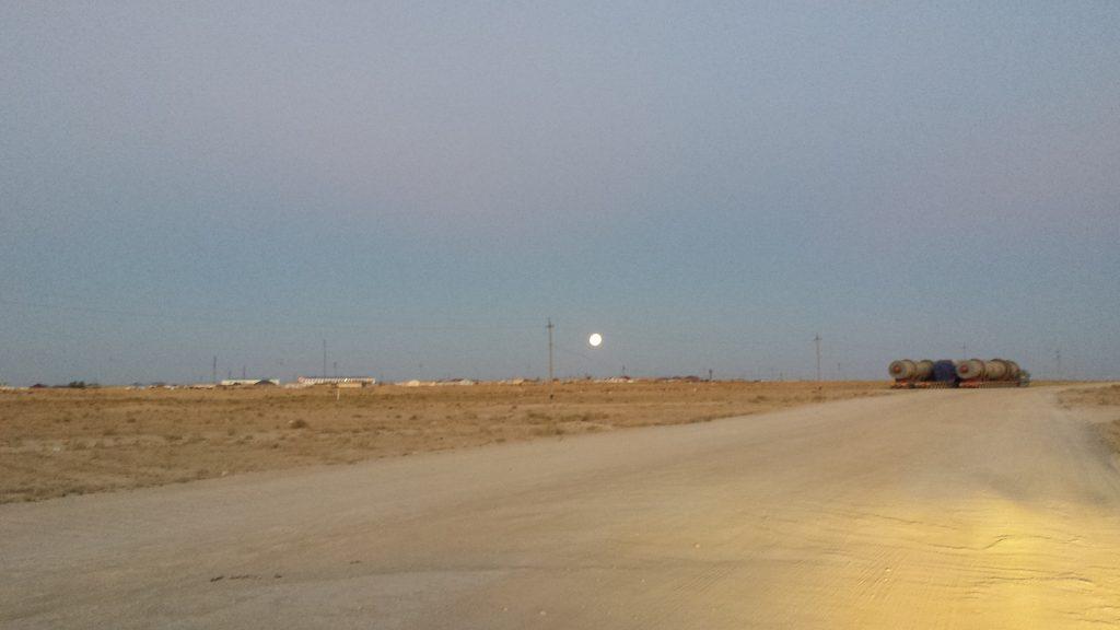 Approaching Uzbekistan Border