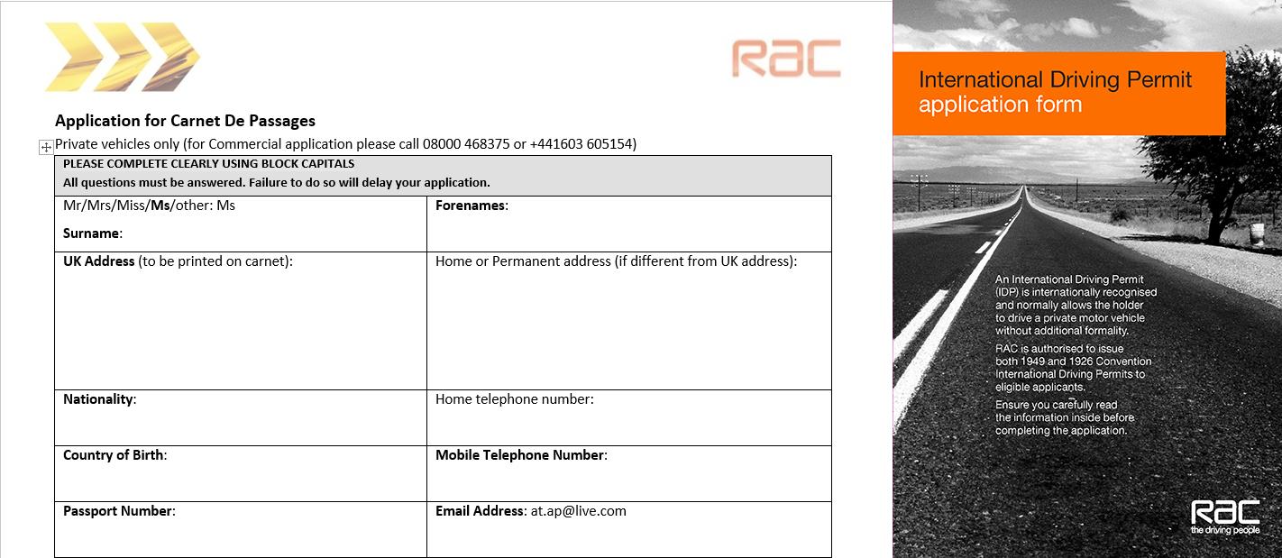 Carnet-De-Passage & International Driving License