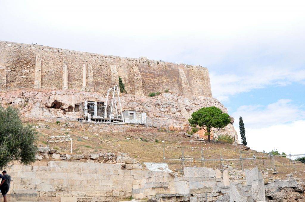 View of Acropolis from the Entrance