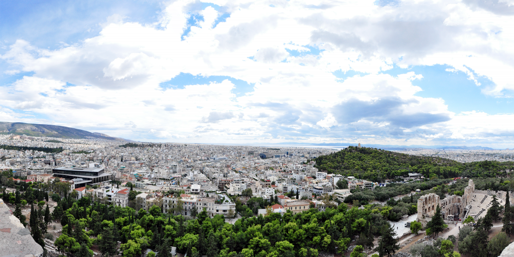 Panoramic View of Athens from Acropolis