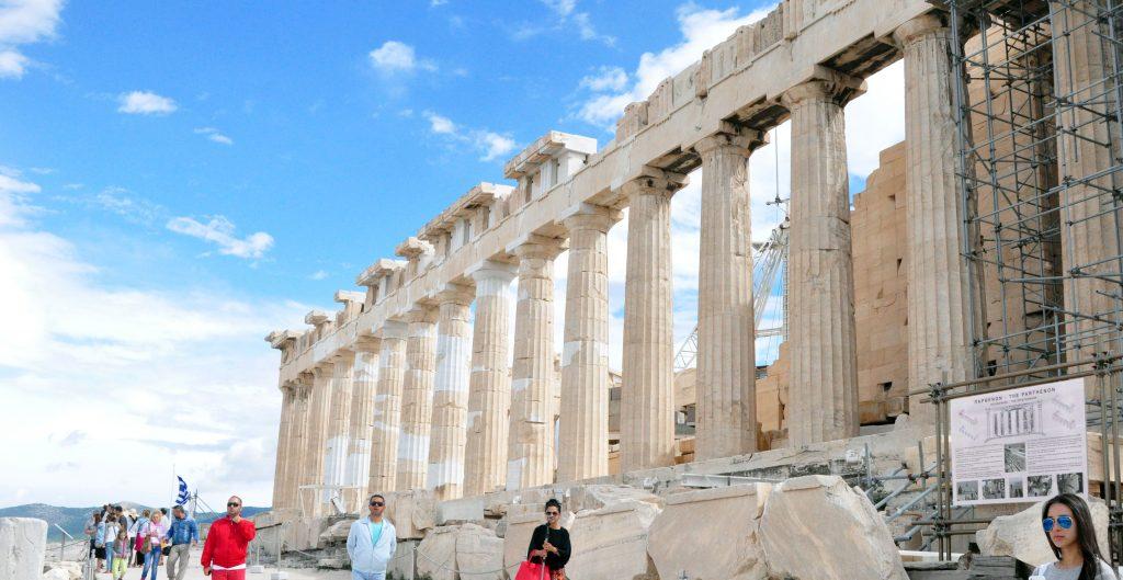 Aarti Posing - Parthenon