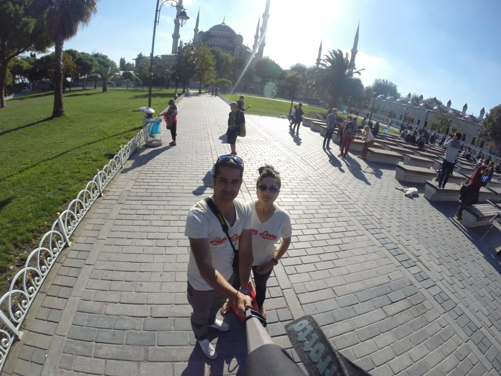Selfie Time - Istanbul Blue Mosque Square
