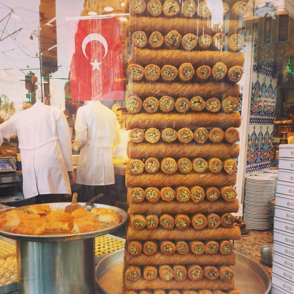 Shop with a Delicious Baklava Tower