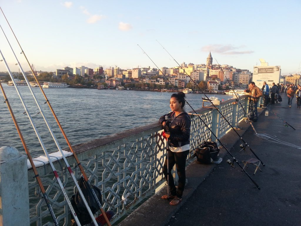 Aarti Posing on Galata Bridge