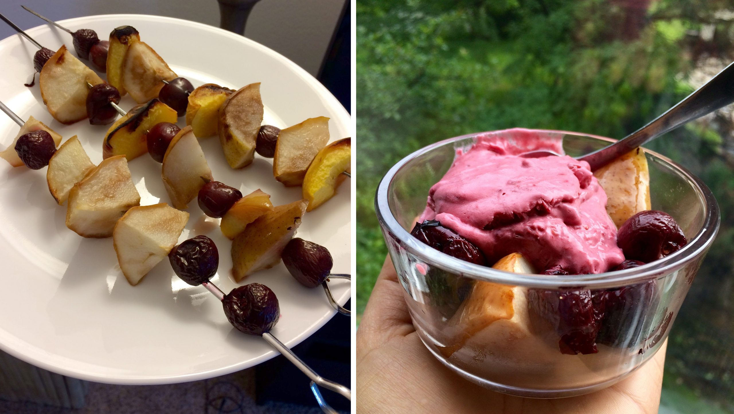 Nice Cream & Fruit Kebobs (Vegan, Gluten Free, Raw, Dairy Free)